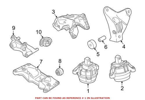 For BMW Genuine Engine Mount Right 22116786242