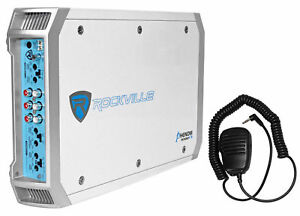 Rockville-RXM-F3-1600-Watt-Marine-Boat-4-Channel-Amplifier-Amp-PA-Microphone