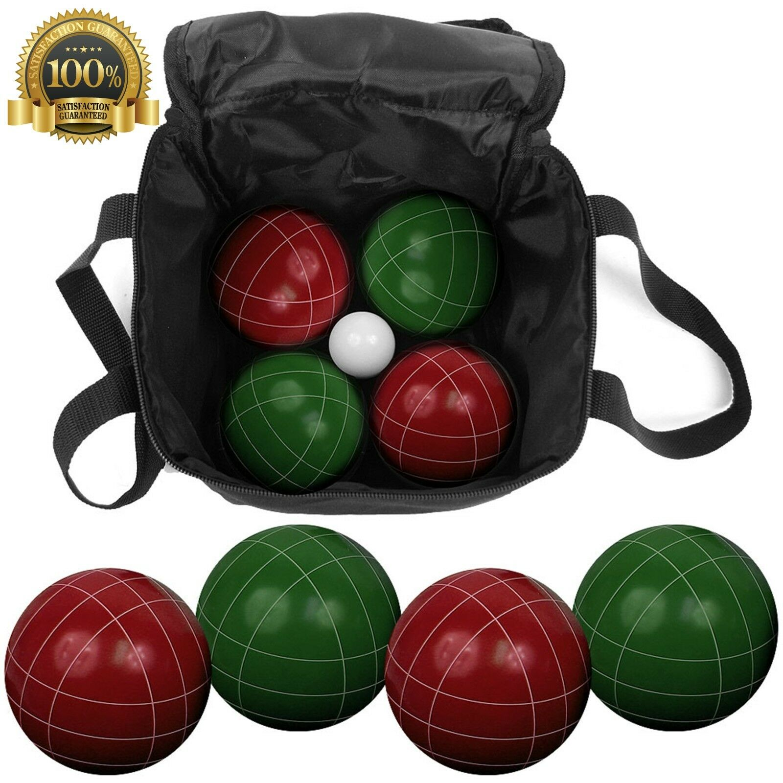 Trademark Summer Game Fun Bocce Ball Set Cary Case Bag Various Licenses Bowling