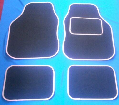 Negro /& Rosa alfombrillas de Para Citroen C1 C2 C3 C4 C5 C6 Saxo Vtr Vts Xantia Xsara