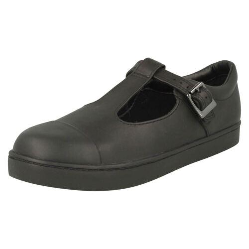 Tea' Negro 'city School Girls Clarks bar Shoes T T7nfq4