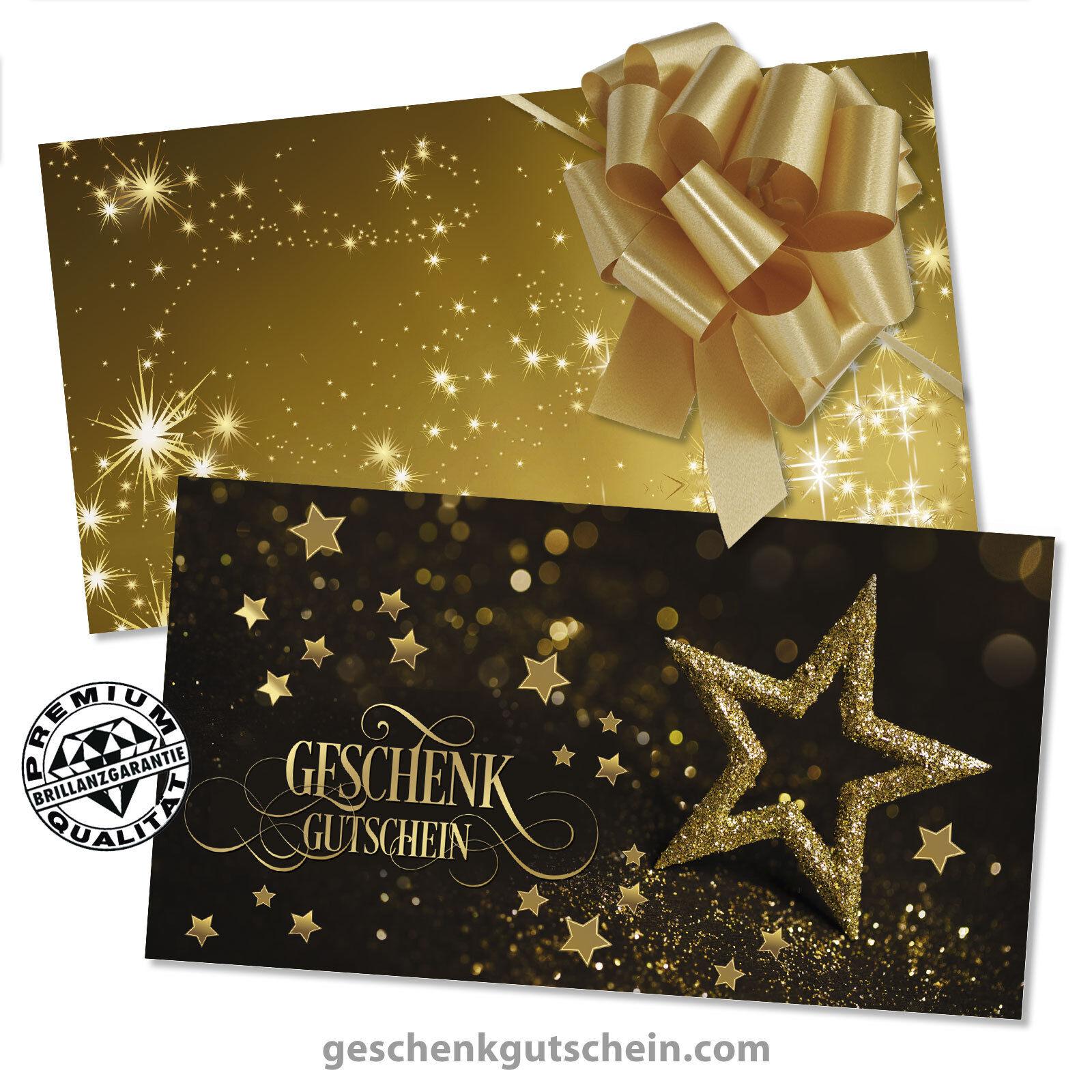 Weihnachts-Gutscheinkarten mit KuGrüns und Schleifen für alle Branchen X1295