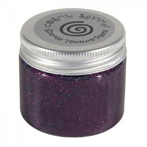 Cosmic Shimmer SPARKLE TEXTURE PASTE 50ml RICH PLUM Stencil Decorative Effect