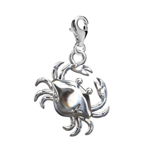 Zodiac Cancer Sign FASHIONS FOREVER® 925 Sterling Silver Crab Clip-On Charm