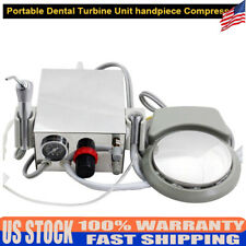 2 Holes Portable Dental Turbine Unit With3 Way Syringe Work With Air Compressor Us