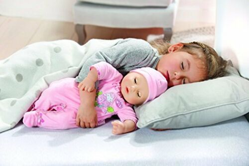 sleeps She babbles giggles Zapf Creation Baby Annabell Doll burps and wets