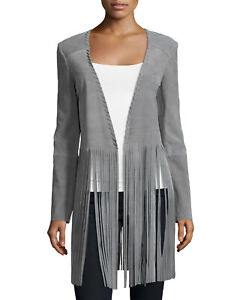 Theperfext-Christy-Open-Front-Suede-Fringe-Jacket-Gray-NWOT-MSRP-1495