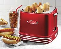 Pop-up Hotdog Toaster, Kitchen Appliances Adjustable Snacks Red Snacks