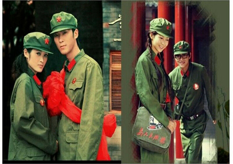 60/'s Chinese People/'s Liberation Army officer cadres green uniform retro