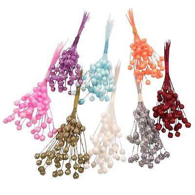 28 Steli Glitterate Mini Craft Decorazione Palline Natale Regali Carte Fiori Spray- Lasciamo Che Le Nostre Merci Vadano Al Mondo
