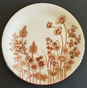"""Provence Printemps Dinner Plate Japanese Stoneware 254 Made in Japan 10 3/4"""""""