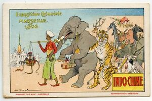 VIMAR-EXPOSITION-COLONIALE-MARSEILLE-1906-INDO-CHINE-ANTHROPOMORPHISME