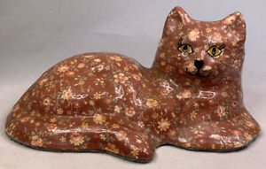Calico-Capers-cat-fabric-Floral-statue-6-5-034-long-home-decor
