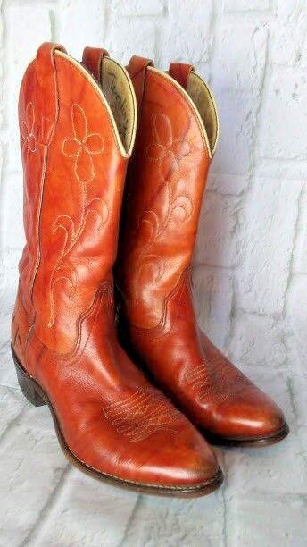 damen Größe 7 M Embroiderot WRANGLER Cordovan Leather COWBOY Stiefel - Kids Größe 5