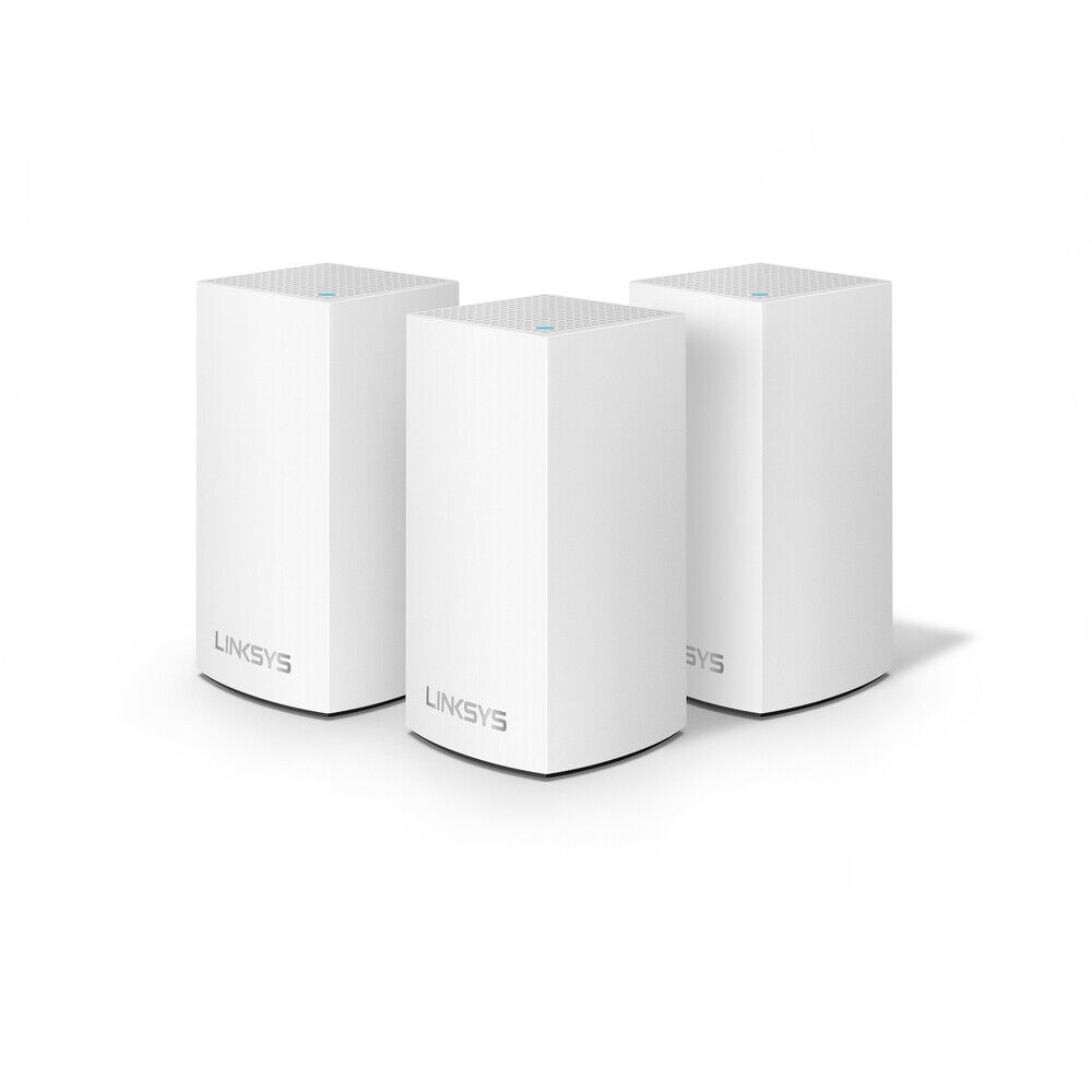 Linksys Velop Intelligent Mesh WiFi System, 3-Pack White (AC3900). Buy it now for 93.99
