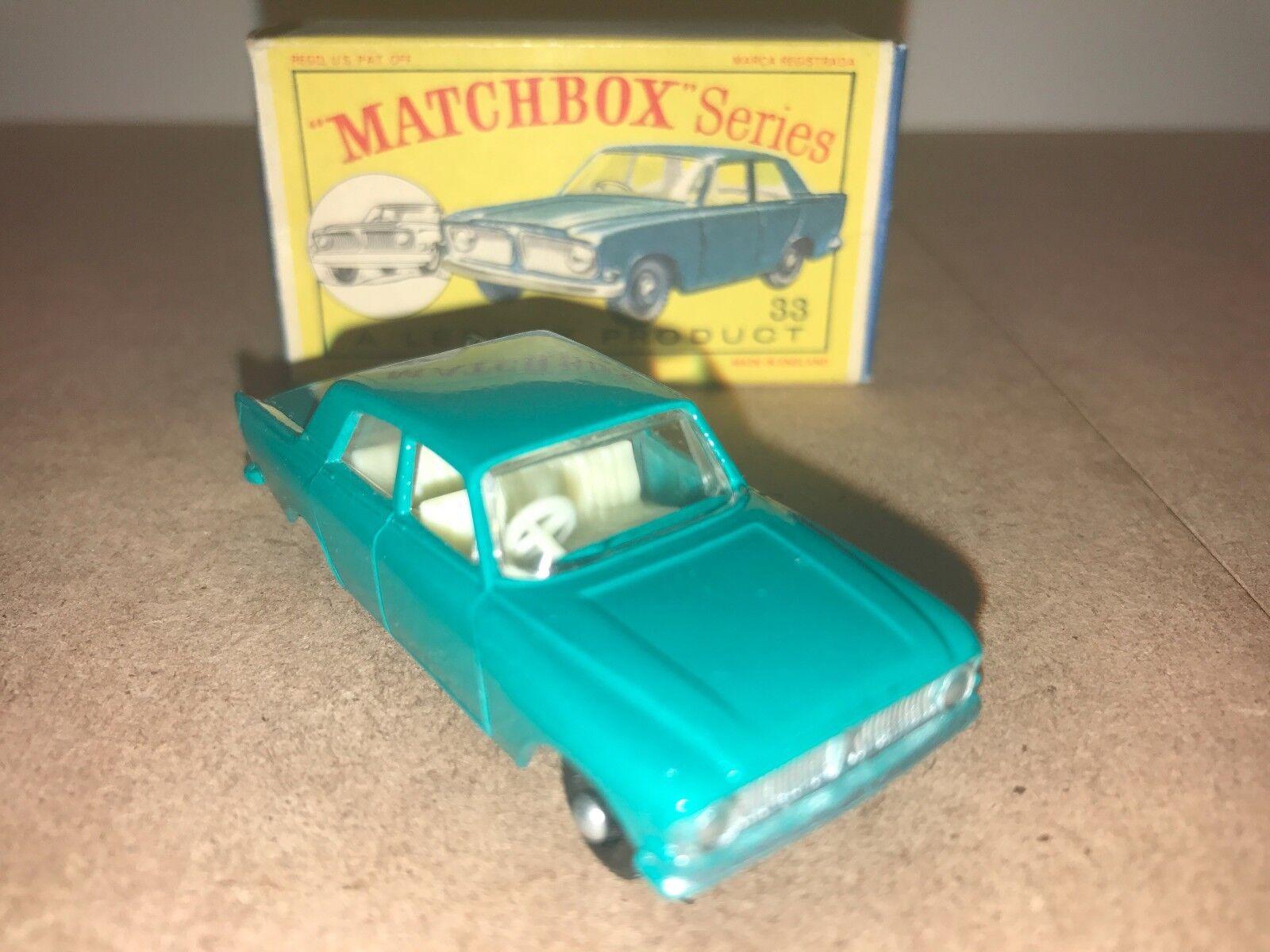 MATCHBOX LESNEY   33 FORD ZEPHYR avec boîte d'origine  des prix moins chers