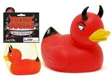 The Original Red Devil Rubber Duckie Duck Bath Tub Bathroom by Accoutrements