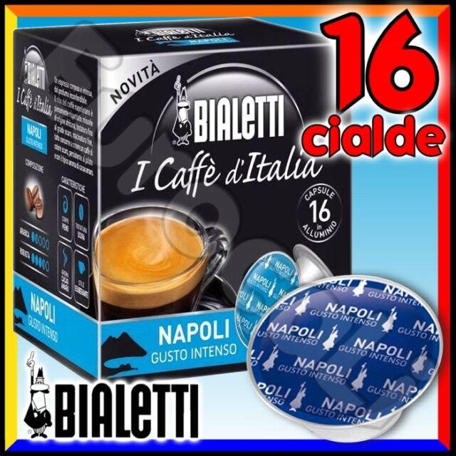 16 Capsule caffè BIALETTI NAPOLI cialde Mokespresso alluminio espresso Mokona•
