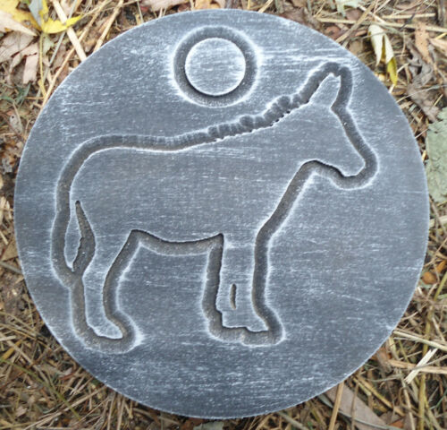 Donkey plaque plastic garden casting plaque mold mould  see more in my store