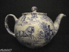 1 Heron Cross Pottery ROMANCE (BLUE) Chintz English 3 Cup Tea Pot or 2 mugs