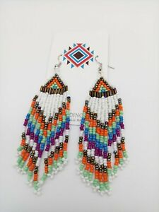 Native American Style Seed Bead Earrings Free Shipping Handmade