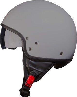 Casco demijet-BHR 802 VINTAGE NERO OPACO  TAGLIA S