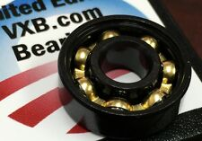 Coolest Fidget Hand Spinner Black Ball Bearing with Bronze Cage Gold Ltd Edition