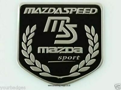 1Pcs Red MS Mazdaspeed Vip Car Body Trunk Lid Shield Mark Sticker Badge Emblem