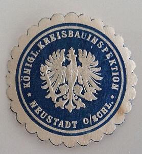 Neustadt-Koenigliche-Kreisbauinspektion-Siegelmarke-Vignette-7302