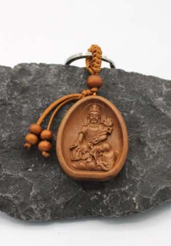 Buddha Schlüsselanhänger Tara Anhänger Rosenholz Glücksbringer AsienLifeStyle