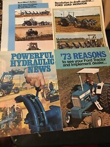 Lot of 4 1970s Ford Tractor Sales Btochures