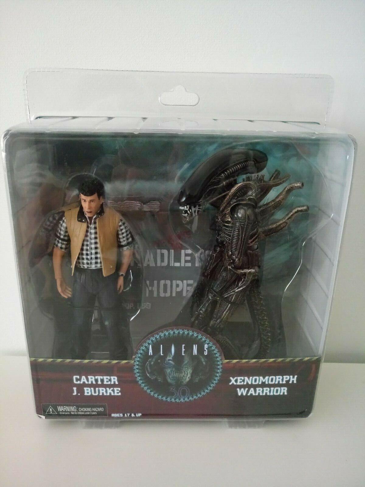 Neca alieni autoTER J. Burke & Xenomorph  Warrior 30th Anniversario cifra  servizio onesto