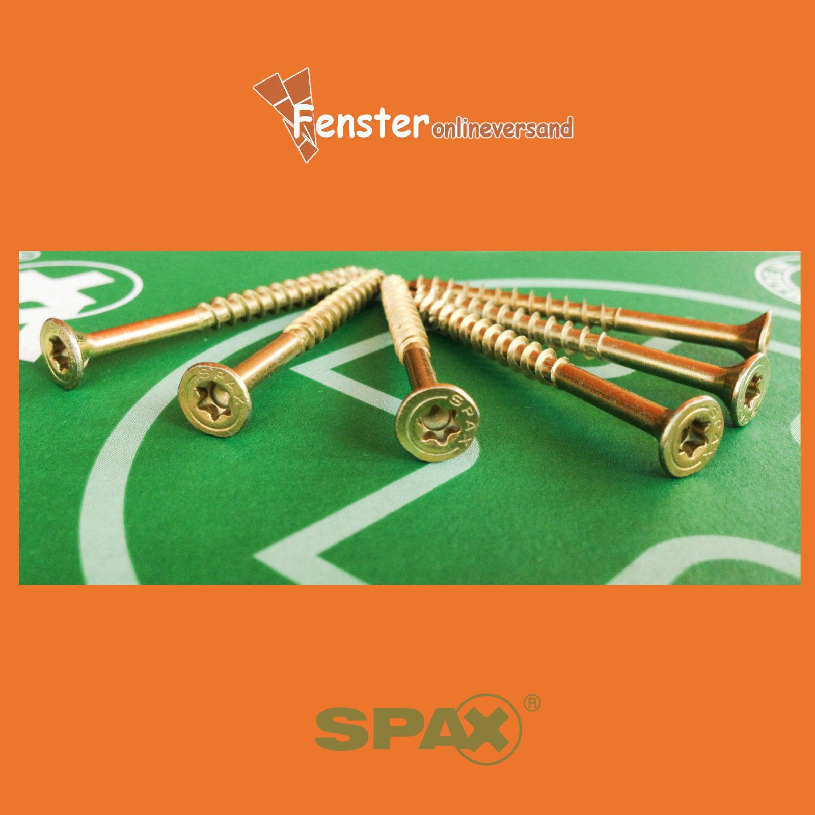 ORIGINAL SPAX ® Spanplattenschrauben T-Star Torx Senkkopf verzinkt ALLE GRÖßEN