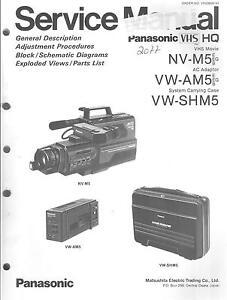 Anleitungen & Schaltbilder Hell Panasonic Original Service Manual Für Nv-m 5 Vw-am 5 Vw-shm 5