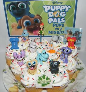 Pleasant Disney Puppy Dog Pals Cake Toppers Set Of 14 W Figures Birthday Cards Printable Riciscafe Filternl
