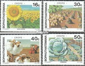 Apprehensive Bophuthatswana 206-209 Mint Never Hinged Mnh 1988 Agricultural Products Strengthening Waist And Sinews Nature & Plants