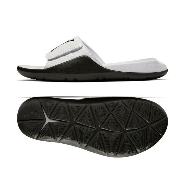 Jordan Hydro VII 7 V2 Men/'s Slide Sandals White Black