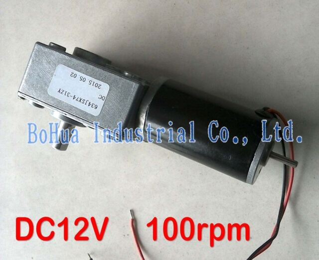 1PCS GW31ZY DC12V 100rpm 5kg.cm Turbo Worm Geared motor can be mounted Encoder