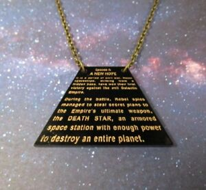 Star Wars Opening Crawl Ep 4 Opening Scroll Pendant Necklace Episode Iv Ebay