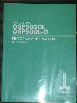 Okuma CNC Systems OSP5020L OSP500L-G Programming Manual 11th Edition  3277-E-R3   eBay