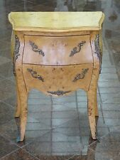 ITALIAN TUSCAN WALNUT BURL LOUIS XV STYLE BOMBE COMMODE CHEST TABLE BRONZE MOUNT