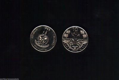 Kind-Hearted Vanuatu 10 Vatu Km6 1999 Fao Crab Unc Money Coin Lot X 100 Pcs Hebrides Pacific 100% Guarantee South Pacific