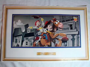 "Toy Story 2 Disney Pixar McDonalds  Poster ""Woody and Jessie Take a Wild Ride"""