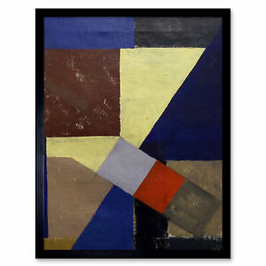 Schwitters-Kurt-Abstract-Composition-Painting-Wall-Art-Print-Framed-12x16