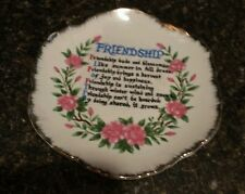 Friendship Floral Fine China Plate Decoration Excellent Condition