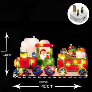 Light-Up-INDOOR-Christmas-Window-Silhouette-2-Carriage-Train