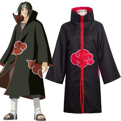 Naruto Akatsuki Itachi Uchiha Deluxe HalloweenCosplay Costume Cloak-XL