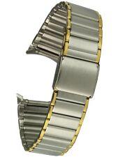Osco - Edelstahluhrarmband - bicolor - 19 mm Stegbreite - Clipverschlus, Uhrband