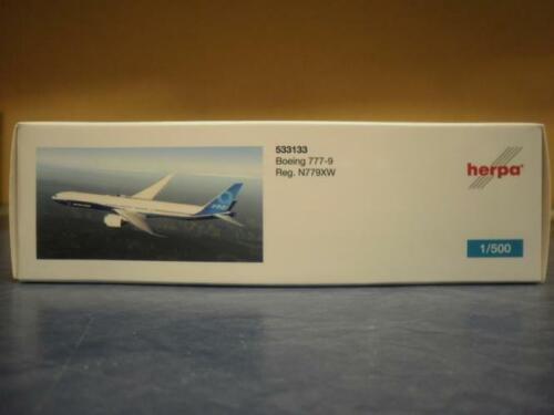 Herpa Wings 1:500 boeing 777-9 boeing obra pintura 533133