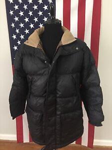 J.Crew Black Goose Down Puffer Jacket men's MEDIUM winter ...